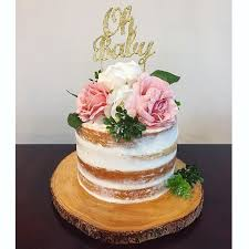 Image result for pink and gold baby shower cake