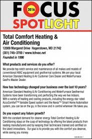 Focus Spotlight Total fort Heating And Air Conditioning