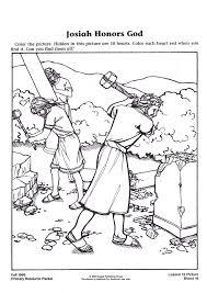 King Josiah Coloring Page 8 David Pages