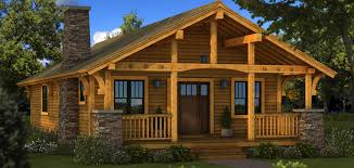 Rustic Cabin Plans Good Evening Ranch Home Great Small Cabins House Plan Full