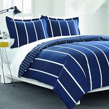 Navy And White Striped Curtains Amazon by Amazon Com Nautica Knots Bay Duvet Cover Set Navy Striped