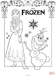 Anna Coloring Pages Frozen Page Free Printable For Kids