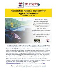 100 National Trucking Celebrating Truck Driver Appreciation Week Eagle