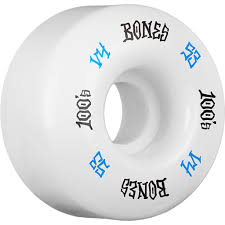 100 Skateboard Truck Sizes Bones 100s OG 12 V4 Wheels White ATBShopcouk