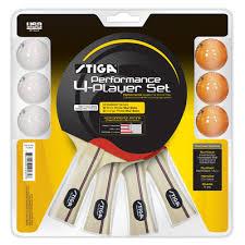 stiga performance 4 player table tennis racket set reviews wayfair