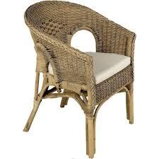 siege en rotin fauteuil en rotin patiné marron 57x57x80cm achat vente