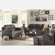 Makonnen Charcoal Sofa Loveseat by Fabric Living Room