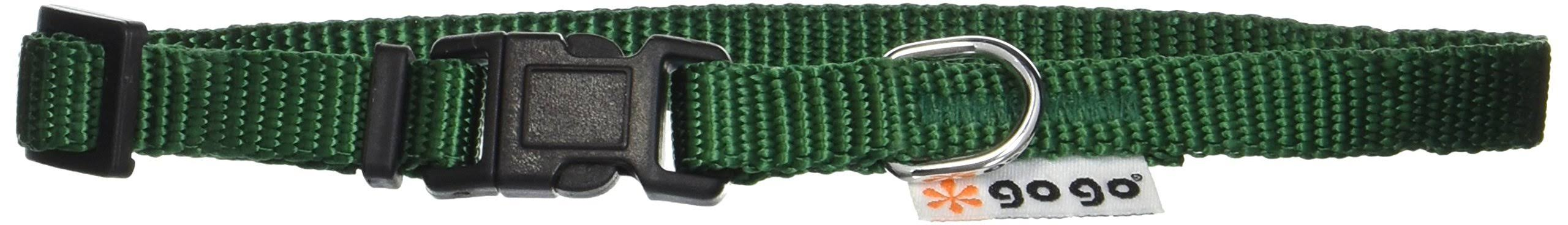 "GoGo Pet Products Comfy Nylon Adjustable Pet Dog Collar - X-Small, Hunter Green, 3/8"" x 8-12"""
