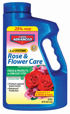 Bayer Advanced 2 in 1 Systemic Rose and Flower Care - 5lbs