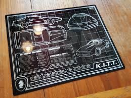 K.I.T.T. SCHEMATIC 8 X 10 METAL PLATE | Knight Rider Companion