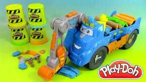 cars pate a modeler pâte à modeler play doh camion de chantier diggin rigs buzzsaw
