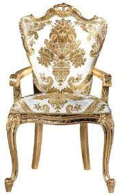 casa padrino luxury baroque dining chair set white gold 6 handcrafted kitchen chairs with armrests and pattern baroque dining room