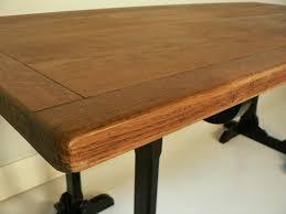 plateau bois bureau bureau chene treteaux ancien