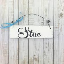 holzschild türschild stue wohnzimmer deko vintage scandi style handgemacht tür zuhause hängedekoration dekor weiß däni