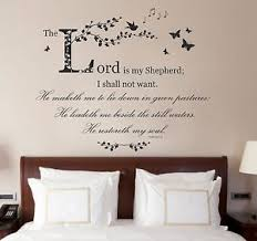 Psalm 23 Bible Quote Verse Christian Vinyl Wall Art Sticker Bedroom Study