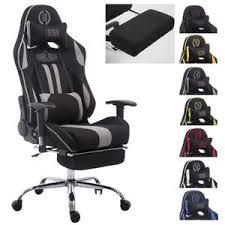 fauteuil de bureau tissu chaise bureau racing limit tissu repose jambes accoudoir coussins