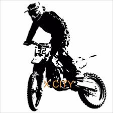motorcycle wall sticker motocross bike vinyl decal cool