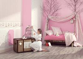 papier peint fille chambre univers très girly inspiration enfants girly
