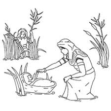 Cute Baby Moses Coloring Pages