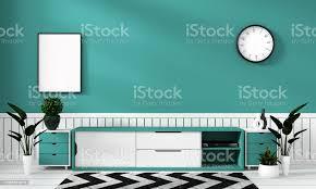 mintl schrank in modernen wohnzimmer minze und dekoration 3drendering stockfoto und mehr bilder behaglich