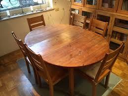 stabil massivholz esstisch kiefer ausziehbar 6 stühle gebraucht