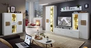 wohnzimmer komplettset 18468 wohnkombination set wohnwand weiß hochglanz