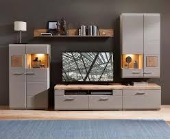 plus ii wohnwand inkl led beleuchtung grau braun abs eiche altholz günstig möbel küchen büromöbel kaufen froschkönig24