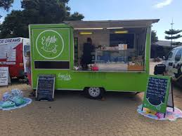 100 Green Food Truck Eat Me Happy Fork And Foot