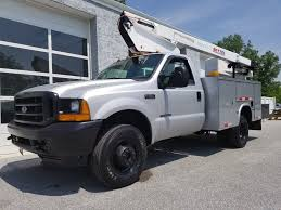 2000 Used Ford Super Duty F-350 7.3L 4X4 Bucket Truck 2009 UTEM ...