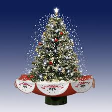 25 Pre Lit PVC Amazing Musical Snowing Artificial Table Top Christmas Tree On Stand