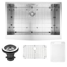 Overstock Stainless Steel Kitchen Sinks by Vigo 33 Inch Farmhouse Stainless Steel Kitchen Sink Grid And