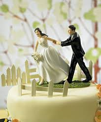A Race To The Altar Bride Groom Cake Topper