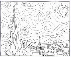 Coloriage De Fille In Coloriage Van Gogh Unique Coloriage Gratuits