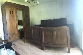 komplettes antikes schlafzimmer jugendstil doppelbett kommode kleiderschrank uvm