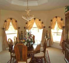 Living Room Curtain Ideas For Bay Windows by Glamorous Window Design With Couple White And Creamy Curtains Also