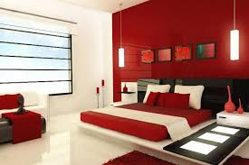 Designer Bedroom Colors Simple On Pertaining To Interest Wall For Bedrooms Ideas Red Color 16