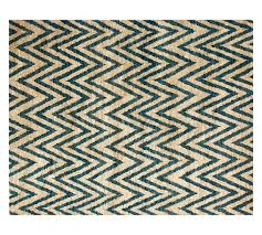 Green Jute Rug by Leto Hand Knotted Jute Rug Blue Pottery Barn