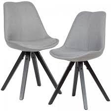 2er set esszimmerstuhl hellgrau mit schwarzen beinen stuhl skandinavisch polsterstuhl mit stoff bezu