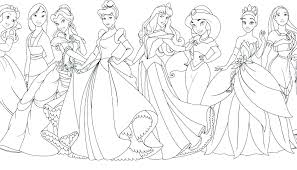 Disney Princess Printable Coloring Pages Feat Free All