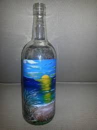 Decorative Wine Bottles Crafts by 11 Best Beach Bottles Images On Pinterest Painted Bottles Wine