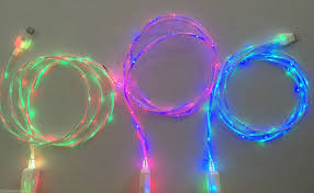 LED DUAL COLOR light up glow charger cable FOR apple iPhone 7 6 6S