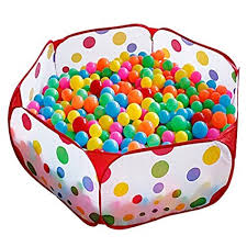 KUUQA Kids Ball Pit Tent Toddler With Red Zippered Storage Bag For Toddlers