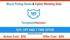 Template Monster Black Friday Deal 2018 Cyber Monday Sale