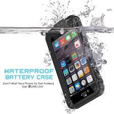 PunkJuice iPhone 6 Plus 6s PLus External Battery Case Black