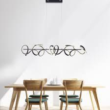 led pendelleuchte schwarz geschwungenes design dimmfunktion modern
