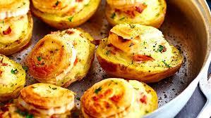 cuisiner la pomme de terre pommes de terre farcies au chèvre et jambon facile et pas cher