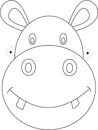 Printable Wolf Mask To Color Dinosaur Masks Free Disney Hippo Coloring Page Kids