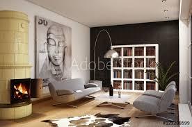 gemütliches wohnzimmer fototapete