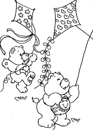 Kite Coloring Pages Care Bears