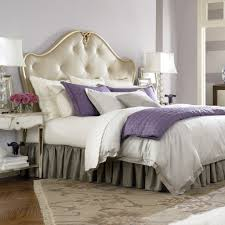 Appealing Masterbed For Vintage Bedroom Desaign Style With Purple Accessory Plus White Table Lamp